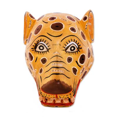 Unicef Market Guatemalan Handcrafted Jaguar Mask