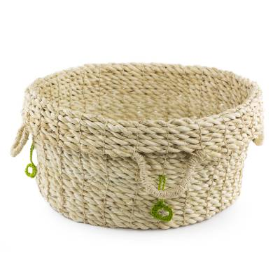 Hand Made Natural Fiber Basket from Guatemala