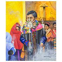 'Brotherhood' (2012) - Religious Ceremony Painting from Guatemala