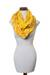 Cotton infinity scarf, 'Maya Sunlight' - Hand Woven Cotton Infinity Scarf in Bright Yellow and White (image 2d) thumbail