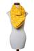 Cotton infinity scarf, 'Maya Sunlight' - Hand Woven Cotton Infinity Scarf in Bright Yellow and White (image 2f) thumbail
