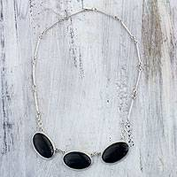 Reversible jade pendant necklace,