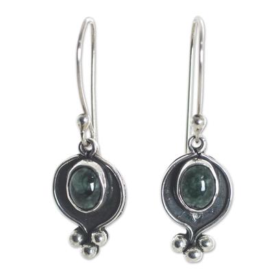 Guatemalan Jade on Sterling Silver Handcrafted Earrings