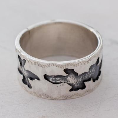 Guatemalan Artisan Crafted Sterling Silver Band Ring
