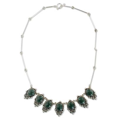 Guatemalan Jade on Sterling Silver Handcrafted Necklace