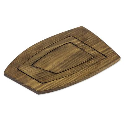 Adjustable Adaptable Hand Crafted Alder Wood Trivet