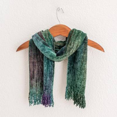Rayon chenille scarf, Enchanted Forest
