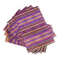 Party placemats, 'San Pedro Zigzags' (set of 18) - 18 Maya Museum Replica Zigzag Single-Use Paper Placemats