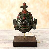 Jade mask, 'Maya King of Tikal' (small) - Classic Maya Replica Jade Mask from Tikal (Small)
