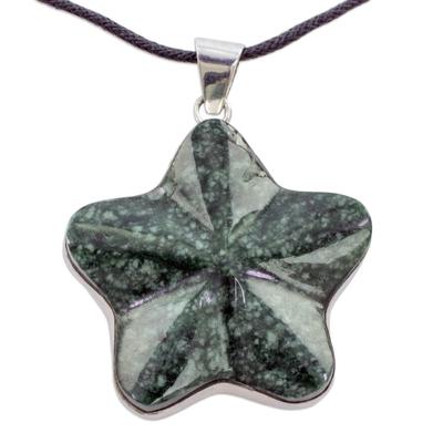 Fair Trade Jewelry Artisan Crafted Dark Jade Necklace