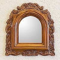 Mirror, 'Beatriz' - Guatemalan Colonial Style Carved Wood Wall Mirror