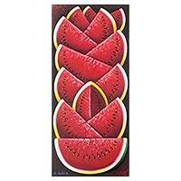 'Watermelon' - Signed Original Painting of Juicy Red Watermelons