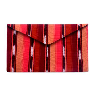 Hand Woven Cotton Clutch Bag Fully Lined