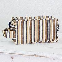 Men s cotton toiletries bag Brown Expedition Guatemala