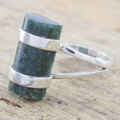 jcpenney earrings sale - Artisan Crafted Sterling Silver and Jade Cocktail Ring