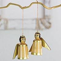 Wood ornaments, 'Little Angels' (set of 4) - Angelic Ornaments Hand Crafted of Reclaimed Wood (Set of 4)
