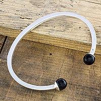 Jade cuff bracelet,