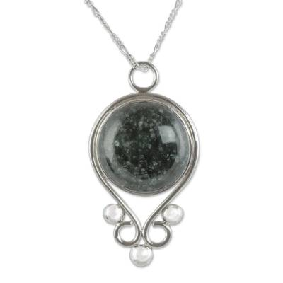 Guatemalan Jade on Sterling Silver Pendant Necklace