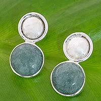 Jade drop earrings,