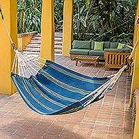 Acrylic hammock Cloudy Teal Forest single Guatemala