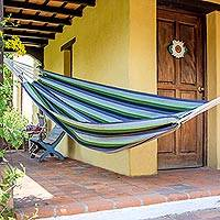 Handwoven hammock Laurel Leaf single Guatemala