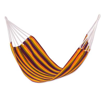 Bright Striped Multicolor Handwoven Guatemalan Hammock