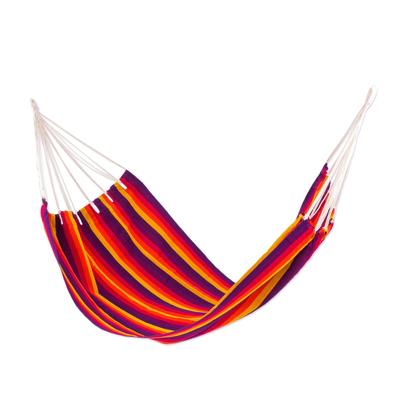 Hand Woven Multicolored Hammock (Single) from Guatemala