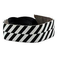 Beaded belt, 'Shimmering Zebra' - Black and White Beaded Belt Crafted by Hand