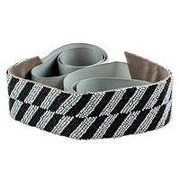 Beaded belt, 'Silver Zebra' - Beaded Belt in Silver and Black Crafted by Hand