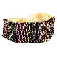 Beaded belt, 'Mesmerize' - Artisan Crafted Multi Color Beaded Belt from Guatemala