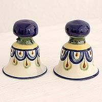Ceramic sculptures, 'Guatemalan Bells' (pair) - Ceramic Sculptures Hand Painted Bells (Pair) Guatemala
