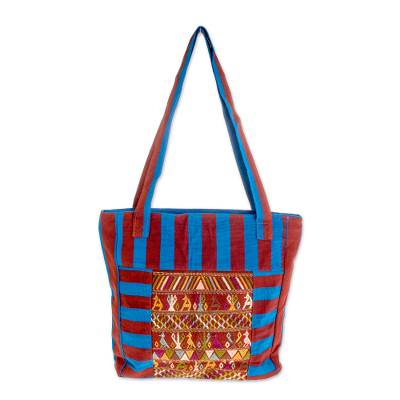 Artisan Crafted 100% Cotton Guatemalan Tote Bag