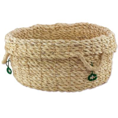 Handwoven Maguey Fiber Open Basket from Guatemala