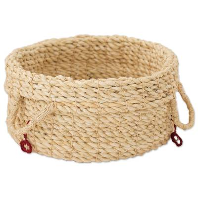 Artisan Crafted Maguey Fiber Basket from Central America