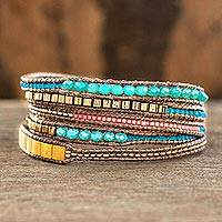Featured review for Beaded wrap bracelet, Multicolor Fiesta