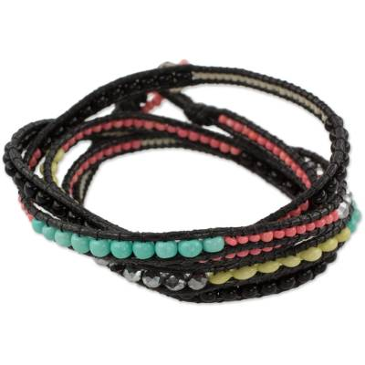 Multicolor Wrap Bracelet from Artisan Crafted Beaded Jewelry
