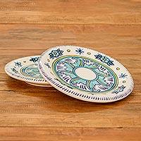 Ceramic plates, 'Quehueche' (pair) (Guatemala)