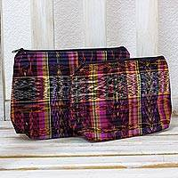 Cotton cosmetic bags,