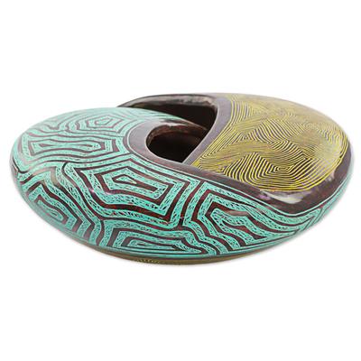 Artisan Crafted Nicaraguan Terracotta Ceramic Centerpiece