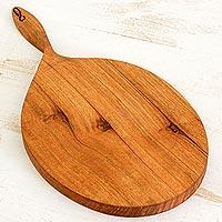 Mahogany wood cutting board, 'Twist of Nature' (Nicaragua)