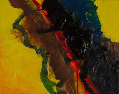 El Salvador Signed Original Mixed Media Abstract Painting