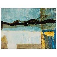 'Symphony 47' - Original Abstract Landscape Painting from El Salvador