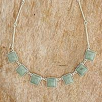 Jade pendant necklace, 'Mayan Universe' - Sterling Silver Jade Pendant Necklace from Guatemala