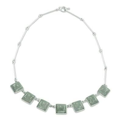 Sterling Silver Jade Pendant Necklace from Guatemala