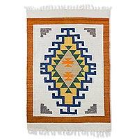 Wool rug Living Culture 4x6 Guatemala