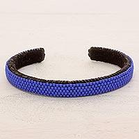 Beaded cuff bracelet,