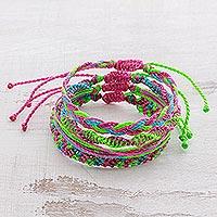 Braided bracelets,