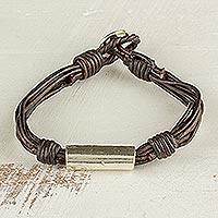 Fine silver pendant bracelet,