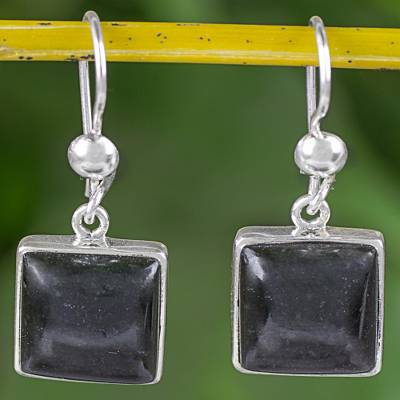 Jade dangle earrings, Mayan Eternity