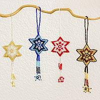 Glass beaded ornaments,